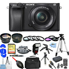 Sony Alpha a6300 Mirrorless Digital Camera W/ 16-50mm Lens!! MEGA BUNDLE NEW!!