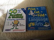 Language Arts Activities on the computer   K-8.  Two different books.  Great con