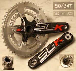FSA SL-K Light Hollow Carbon Crankset 588g B Bright 170 50T/34T 110bcd BB30