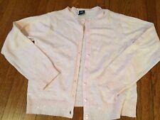 NWOT Gap Kids Girls soft pink twinset sweater L delicate cardigan sequins angora