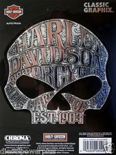 harley davidson motorcycle decal sticker willie g skull sugar ride hard free bik