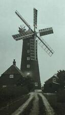 C1900s Glass Lantern Slide Of An Unknown Windmill