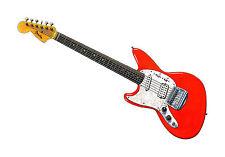 Kurt Cobain's Fender Jag-Stang POSTER PRINT A1 Size
