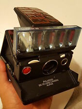 Polaroid SX-70 alpha 1 - model 2  camera TESTED & WORKING plus a new flash bar