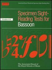 Specimen Sight Reading Tests for Bassoon Grades 6-8 ABRSM Sheet Music Book