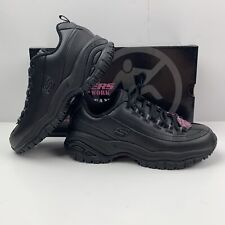SKECHERS Work Soft Stride Softie Sneaker Women's Sz 6.5 Black Slip Resistant NEW