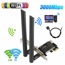 3000Mbps PCI-E Wireless WiFi Card 2.4G/5G Dual Band Network Adapter for Desktop