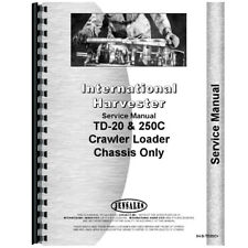 New International Harvester Td20c Crawler Chassis Only Service Manual