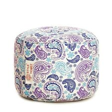 Style Homez Round Canvas Paisley Printed Bean Bag Ottoman Stool Large Cover