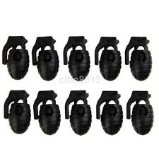 10PCS Rope Grenade Clamp Cord Lock Stopper for Paracord Shoe Lace Buckle Clip