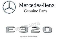 New GENUINE MERCEDES E320 Rear Trunk Deck Lid Chrome Sign Emblem Name Plate Logo
