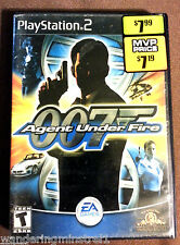 SONY PLAY STATION 007 AGENT UNDER FIRE GAME DISC , Manual , Case  2002