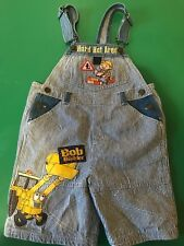 Bob The Builder 4T Shorts Overalls Toddler Denim Tool Carpenter Bib Stripes