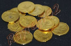 12 24 36 48 60 72 84 96 108 120 plastic pirate gold treasure coins FREE POST G42