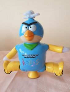 Vintage Multifunction Battery Operated Dancing Robot Angry Bird W Music&Flash...