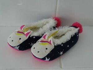 Girl's Dreama Unicorn Slippers by Joules Size UK 8-9 (XS)