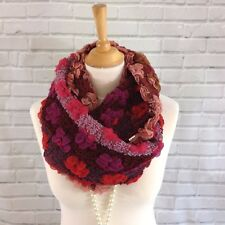 Da Donna Inverno BUBBLE basso di lenza Sciarpa Cappuccio Multi colorato di rosso Marrone Chiaro Viola AW17