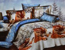 Todd Linens Classic Tiger Snow Friends 3 Pcs Queen Set Active Print Bedding Set