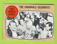 1968 Topps - 1967 World Series St Louis Cardinals Celebrate (#158)