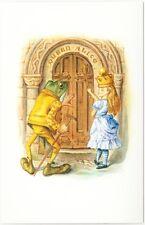 Alice in Wonderland Queen Alice and Frog Gardener at Door Postcard John Tenniel