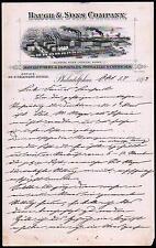 1893 Baugh & Sons Co Fertilizers Chemicals Philadelphia RARE Letter Head history