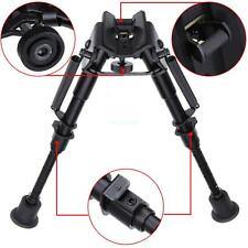 "Height Adjustable 6"" to 9"" Sniper Hunting Metal Rifle Bipod Sling Swivel Mount"