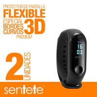 Sentete® 2x Xiaomi Mi Band 3 Protector de Pantalla Flexible 3D PREMIUM