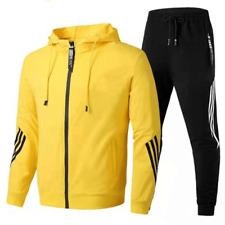 Warme Winter Herren Casual Sportswear Kapuzenpullover Jacke + Kordelzughose