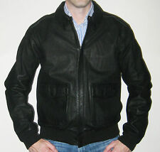 Ralph Lauren Polo Black Farrington Leather Bomber Jacket - Size XXL - $995 MSRP!