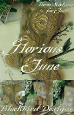 Glorious June Set of 3 Stocking Ornament Blackbird Designs Cross Stitch Pattern