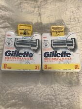 2 X Packs GILLETTE SKINGUARD SENSITIVE RAZOR BLADES (8 PACK) New.RRP£20.99 Each