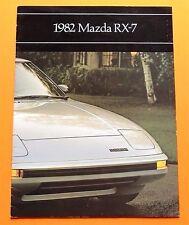 "ORIGINAL 1982 MAZDA RX-7 RX7 PRESTIGE BROCHURE W/ SPECS ~16 PAGES ~12"" X 9"" ~M4"