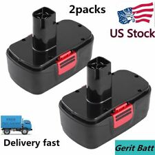 2-Replacement for Craftsman 19.2V Battery 2000mAh NIMH C3 130279005 11375 11376