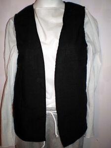 New Handmade Renaissance / Pirate Boy's Vest Size 9/10 Various Colors