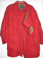 Lands End size 10 12 ladies red coat heavy winter removeable hood