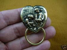#E-392)  Angels camp heart Eyeglass pin pendant ID badge holder
