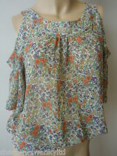 ☆ BNWT NEW LOOK Limited Edition Ladies Floral Cut Out Back Top UK 8 EU 36 ☆