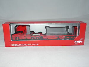 herpa 313070 Scania Hauber TL Zugmaschine Tieflade-Sattelzug Sturm 1:87 NEU +...