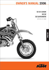 2002-2006 KTM 50SX Junior 50SX 50 Supermoto Owners Manual Paper In French : 3...