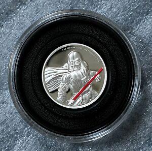 2017 Niue Disney STAR WARS DARTH VADER 2 oz Silver Proof Coin 5K Minted FREE S/H