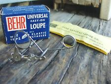 """Vtg NOS BEHR """"UNIVERSAL EASY-ON LOUPE"""" Model 55 in ORIGINAL BOX w/Instructions!"""