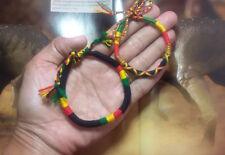 Bob Marley Rasta Reggae Bracelet Surfer Friendship Cord Bracelets Jamaica 2 pcs