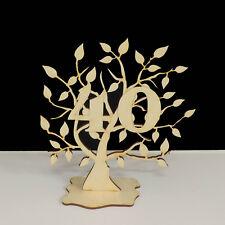 Jubiläumsbaum Geburtstag, 40 Jahre aus Holz 16cm Lebensbaum Geschenk Hochzeit