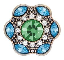 Buy 4 Get 5Th $6.95 Snap Free Ginger Snap Green Turquoise Brass La-Di-Da Sn10-81