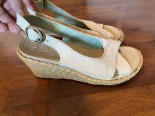Womens Size 6 Crocs Beige Wedge Heel Sandals
