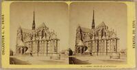 Francia Amiens Abside Da La Cattedrale c1870 Foto Stereo Vintage Albumina