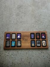 New listing Wooden Joe Camel Zippo Display with 12 lighters