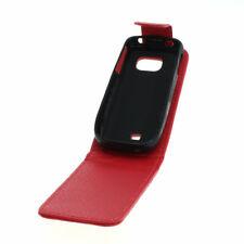Flip Case Etui Handytasche Tasche Hülle f. Nokia C2-01 (Rot)