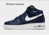 """Nike Air Force 1 Mid """"Blue-White"""" Men's Trainers Limited Stock All Sizes"""