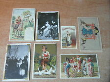 7 x CHROMO Victorian TRADE CARD CHOCOLAT GRONDARD